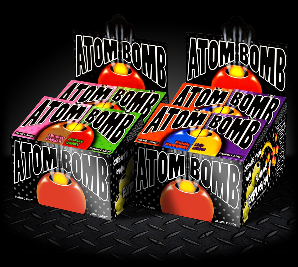 Atom Bomb Candies; Package Design